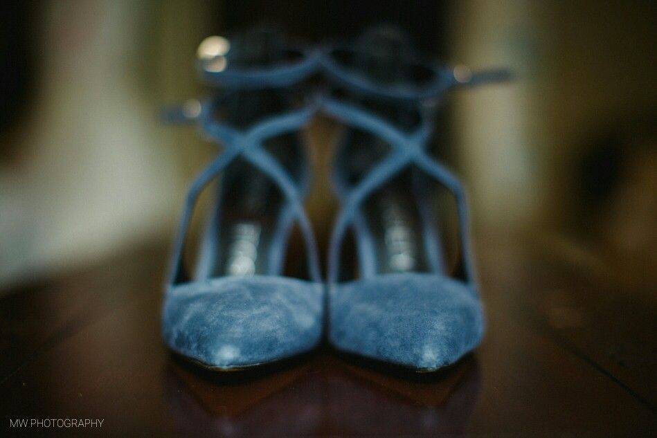 For your something Blue try Blue wedding shoes! Blue