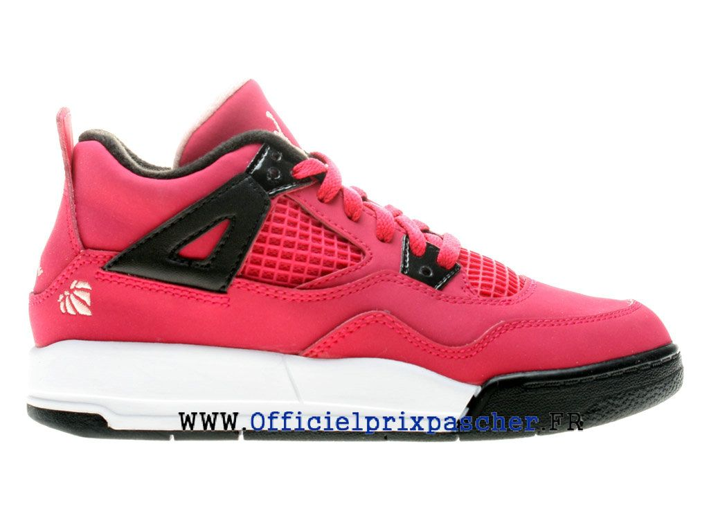 wholesale dealer b12d4 8935a ... canada air jordan 4 retro gs boutique basketball chaussures pas cher  femme rose blanc 487725 6a9ae
