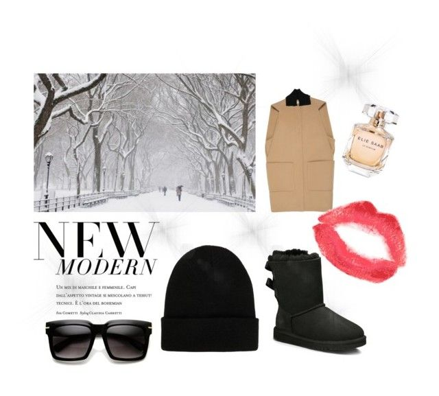 """""""Winter is coming."""" by zerina-felic on Polyvore featuring Balenciaga, UGG Australia, NLY Accessories, Topshop and Elie Saab"""