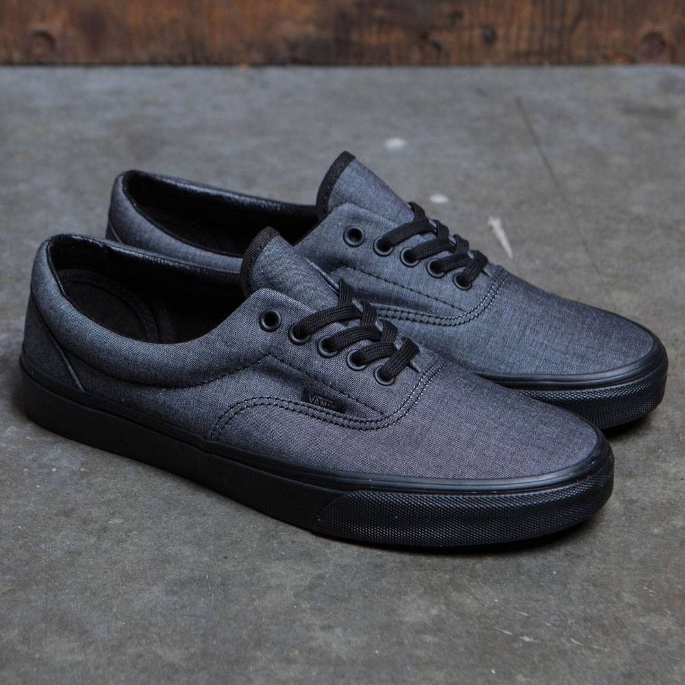 0e4f631110 Vans Era Mono Chambray Black Black Mens Size 6.5 New In Box Skate Shoe   fashion
