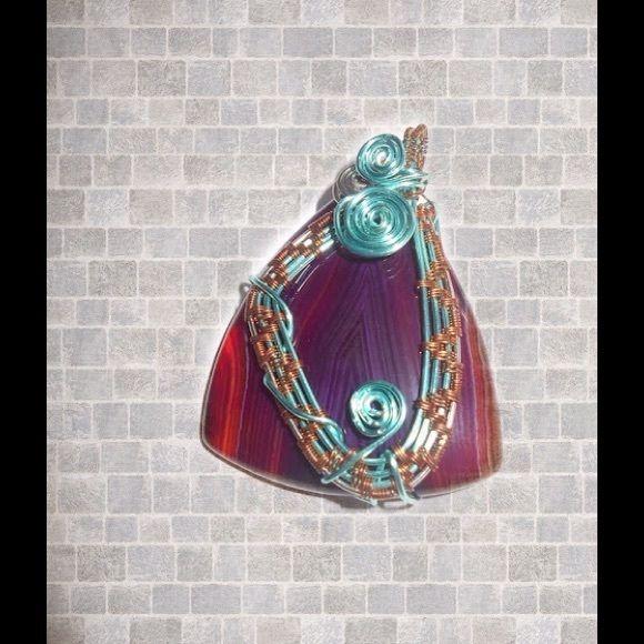 2 Agate Wire Wrap Pendants BUNDLE | My Posh Closet | Pinterest ...