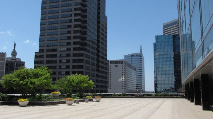 Our Outdoor Terrace At The Regions Tower In Downtown Indianapolis Stunning Downtown Region