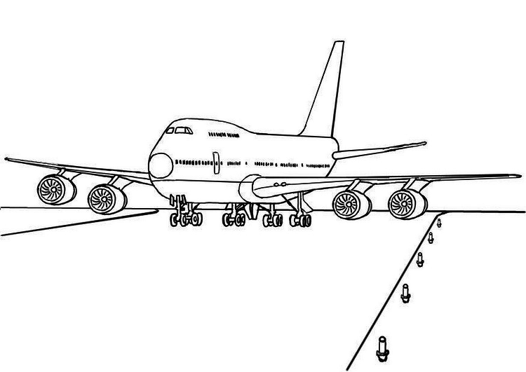 Jumbo Jet Coloring | The Coloring pages | Pinterest