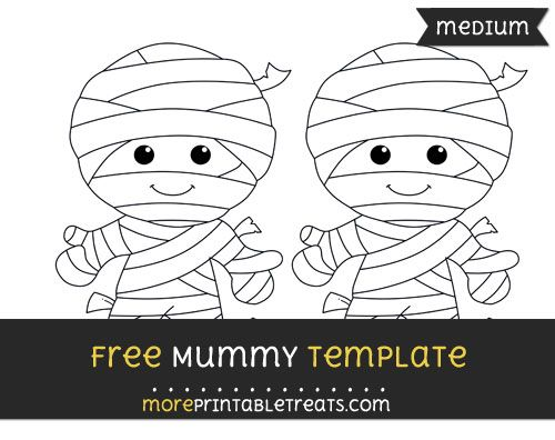 Free Mummy Template Medium Shapes And Templates Printables