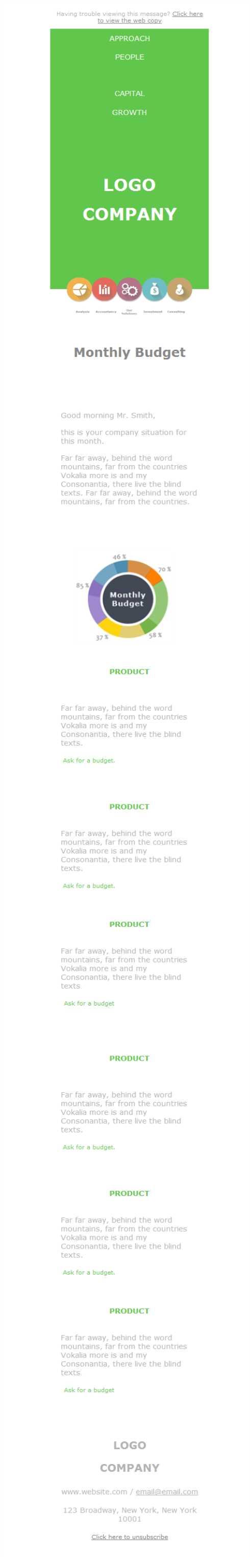 La plantilla newsletter perfecta para tu sector empresarial en ...