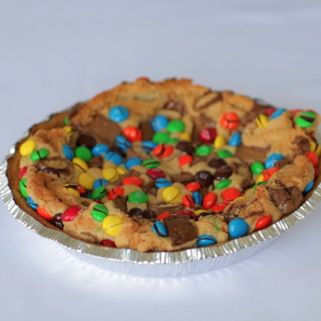 Pause for a moment to inhale the glorious scent of sugar and more sugar. | The Best Pie Is This Cookie Dough Pie Full Of Candy