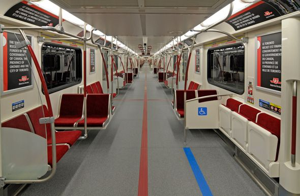 Inside The New As Of 2012 Toronto Transit Commission Ttc Subway Ontario Tren Toronto