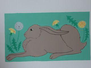 brown hare screen print. Karen Boxall.
