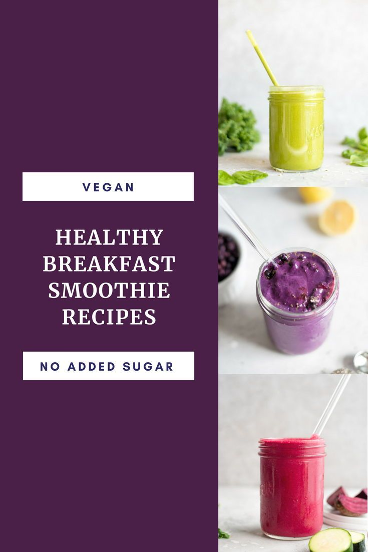 Healthy Breakfast Smoothie Recipes Best Vegan Recipes