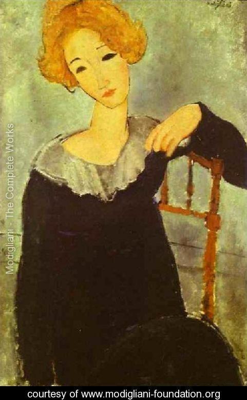 Woman With Read Hair - Amedeo Modigliani - www.modigliani-foundation.org