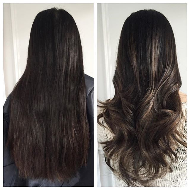 before after on christine natural ashy caramel balayage highlights to add dimension left. Black Bedroom Furniture Sets. Home Design Ideas