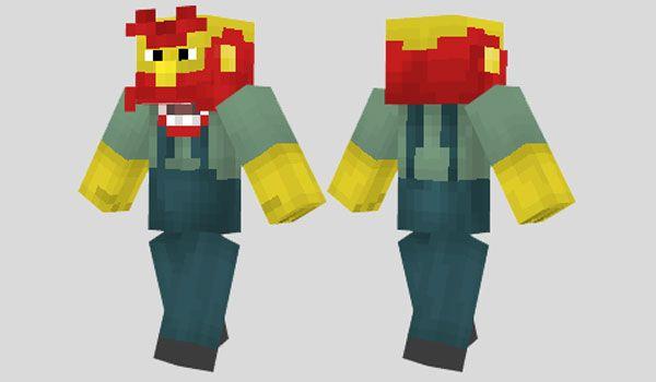 Groundskeeper Willie Skin Para Minecraft Minecraft Skins - Skin para minecraft pe pocket edition