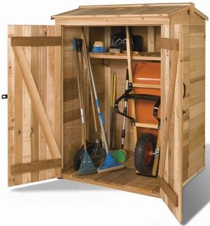 Cedarshed Greenpod Gable Cedar Storage Shed (Common: X Inte
