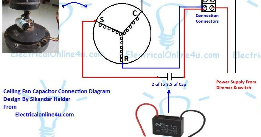 Capacitor Wiring Diagram In Ceiling Fan from i.pinimg.com