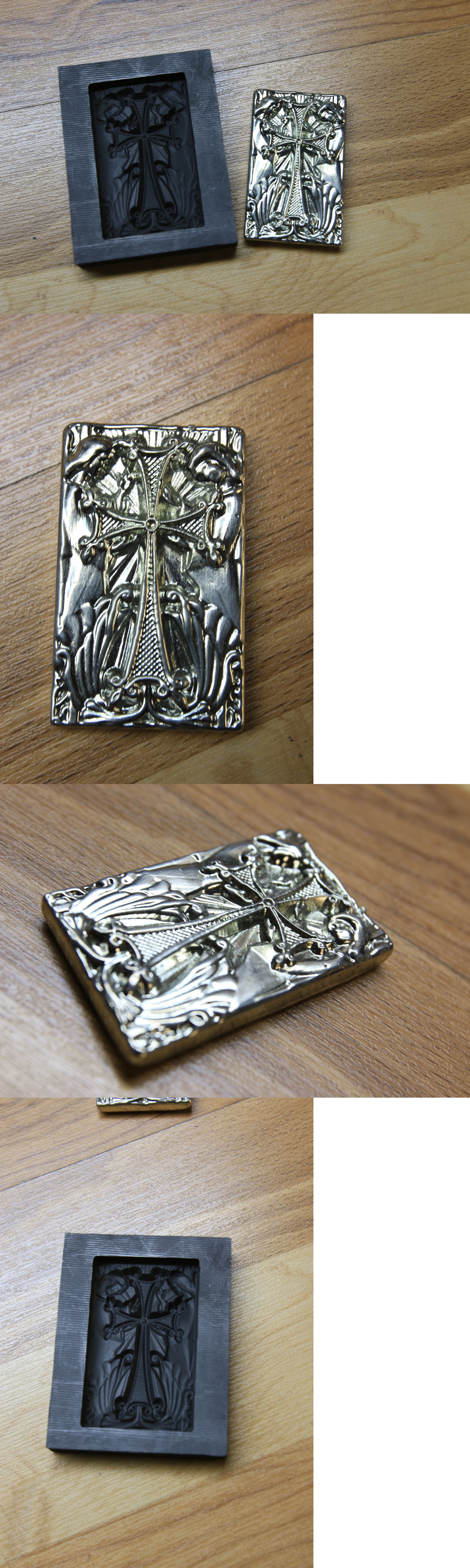 Jewelry Molds 67711: Stellar Cross And Angel Bar Graphite