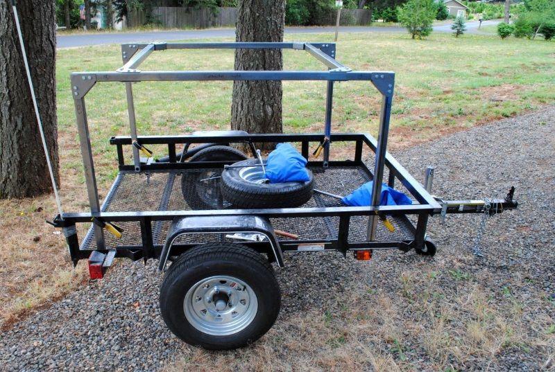 Bald Wird Dies Ein Schones Kompaktes Utility Trailer Camper Sein In 2020 Utility Trailer Camper Camping Trailer Utility Trailer