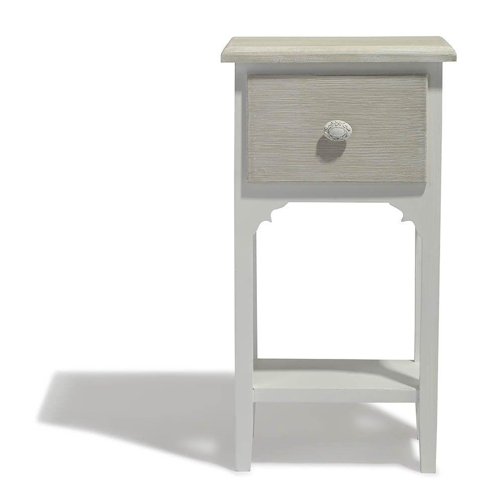 Table De Chevet Venise Blanche 1 Tiroir Et 1 Etagere Table De Chevet Chambre Meuble Gifi Table De Chevet Meuble Gifi Tiroir