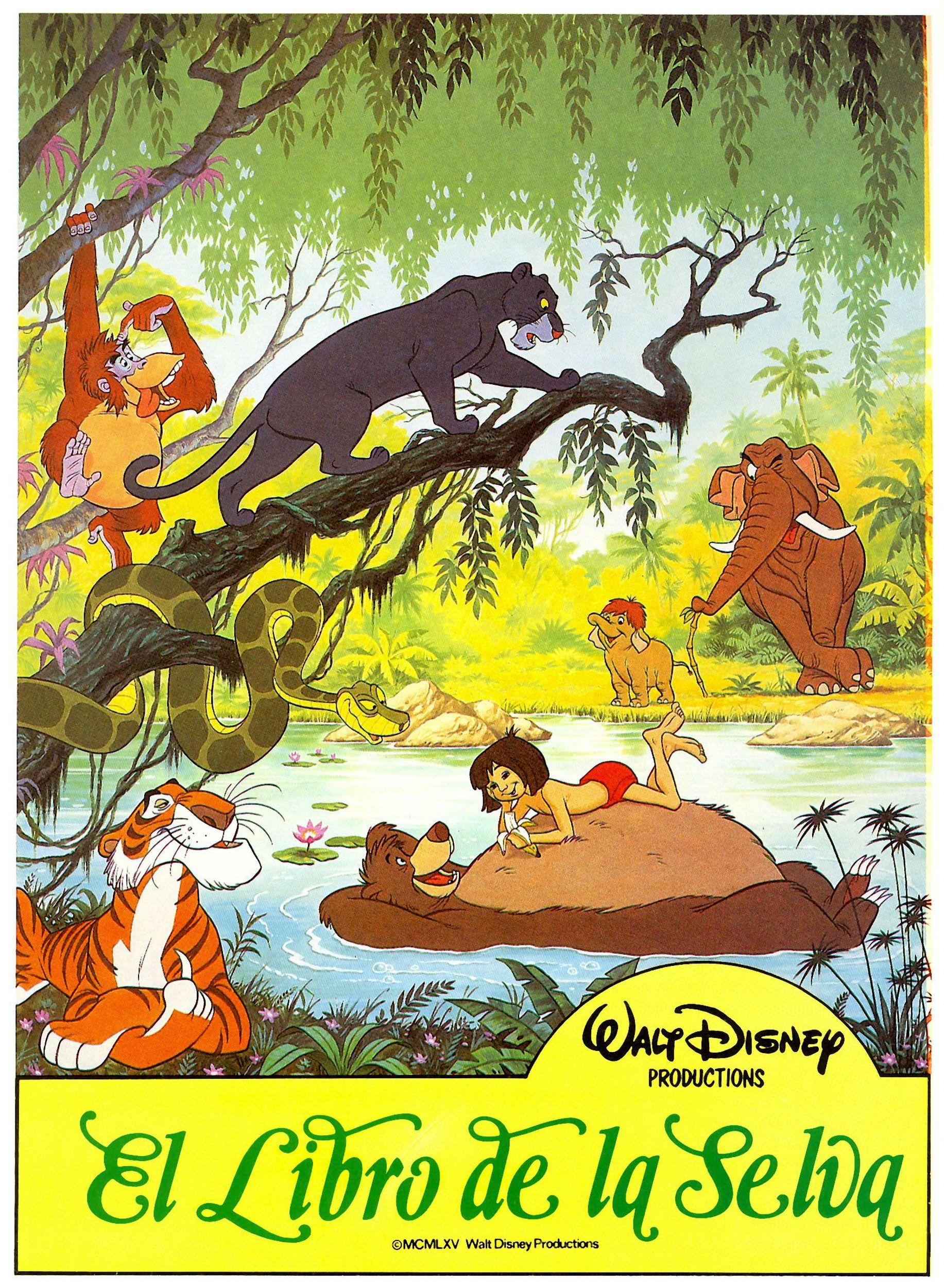 El Libro De La Selva The Jungle Book 1967 Novel Rudyard Kipling Walt Disney Disney Movie Posters Jungle Book Jungle Book Disney