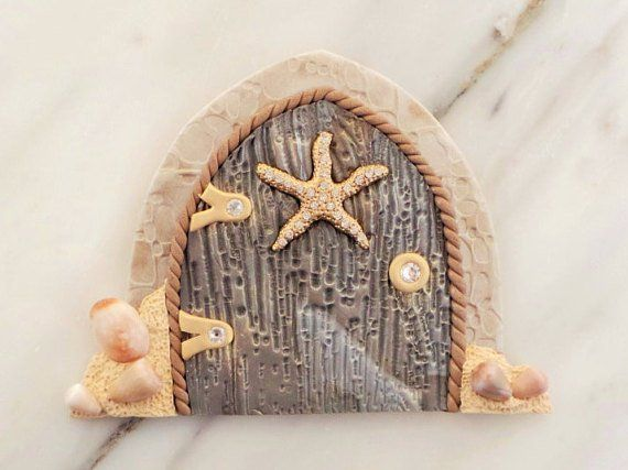 Nautical beach miniature fairy garden door by miniwhimsies for Miniature fairy garden doors