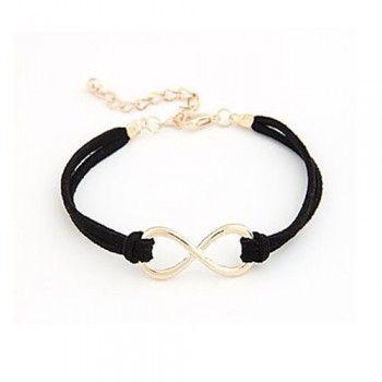 f1e3873f717b Women s Stylish Jewelry Infinite Pattern Metal Charm Bracelet(Coffee)  Infinito