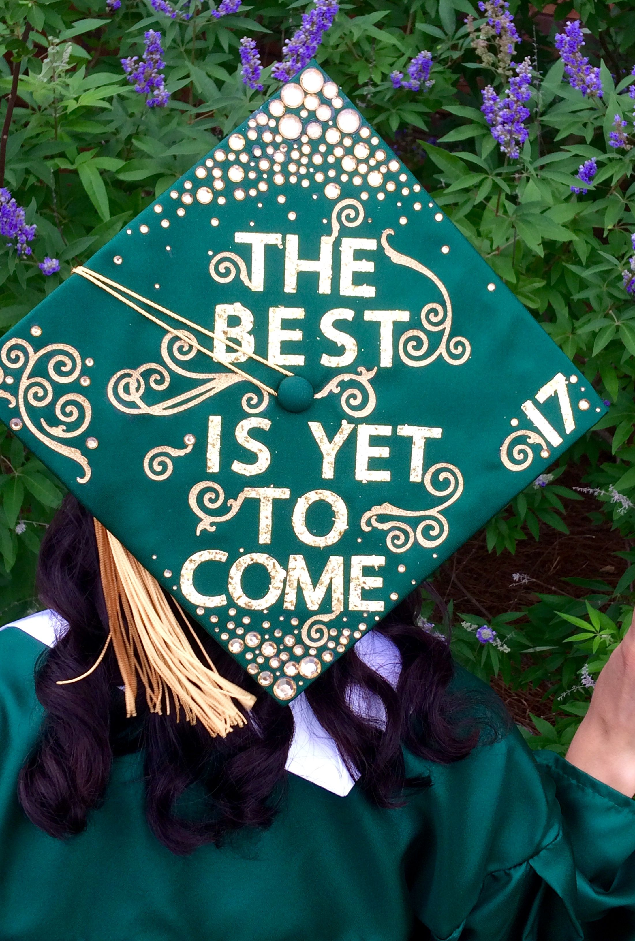 Gold Graduation Cap Decoration Diy Class Of 2017 High School