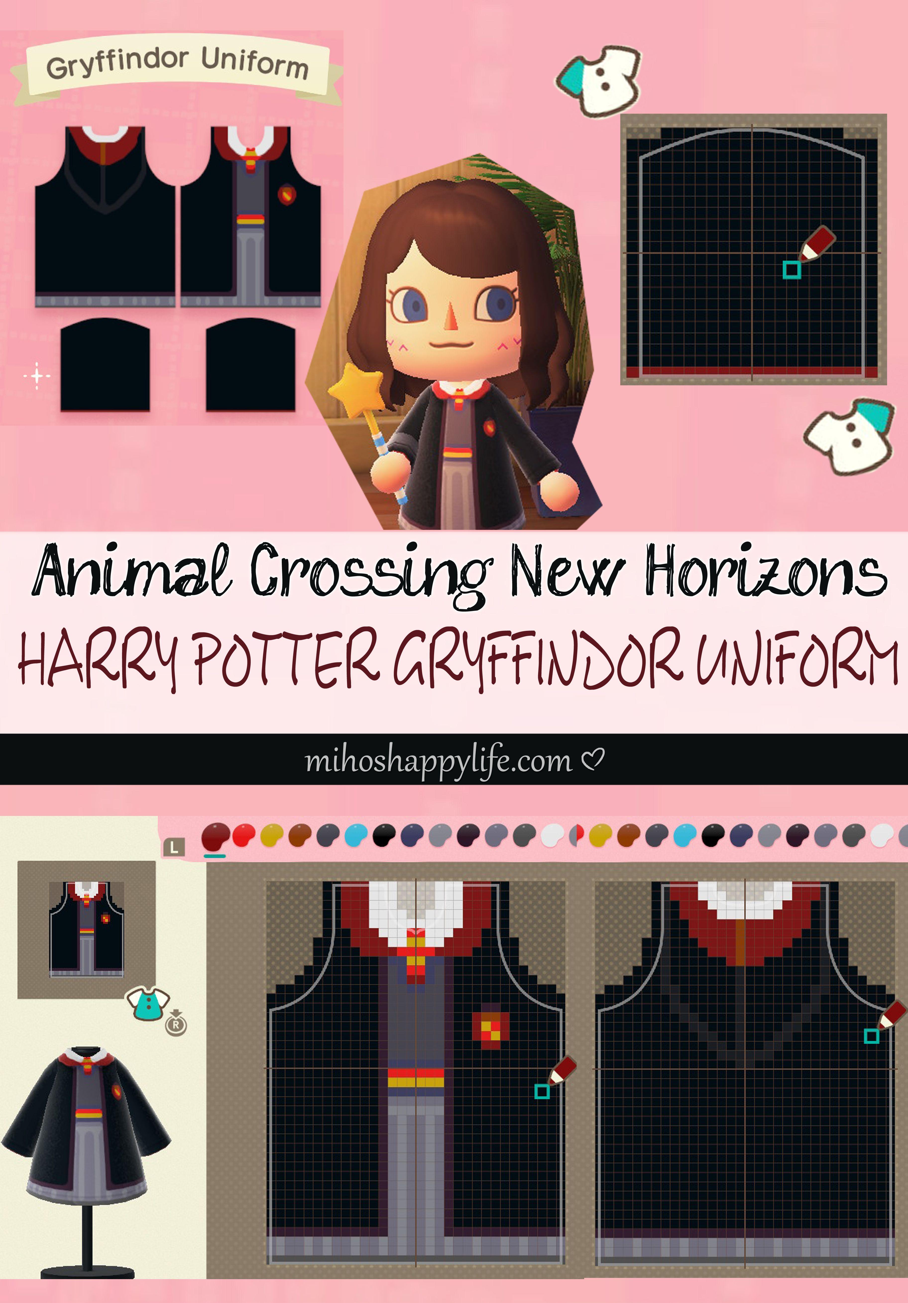 Animal Crossing New Horizons - Template Design Harry Potter Gryffindor Uniform