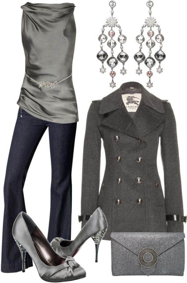 """""""Silver & Grey"""" by stay-at-home-mom on Polyvore"""