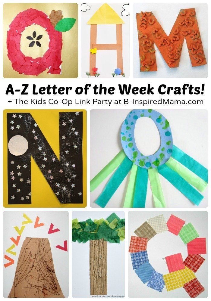Letter of the Week Crafts [From A to Z!] + The Weekly Kids Co Op