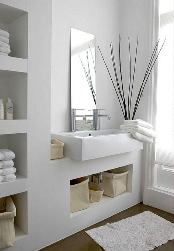 nisjes-in-muur-badkamer | BATHROOM | Pinterest | Bathroom ...