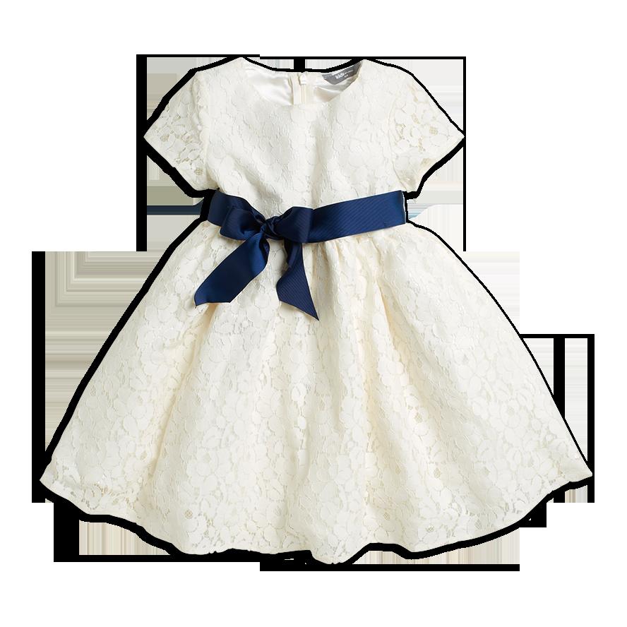 vit klänning baby