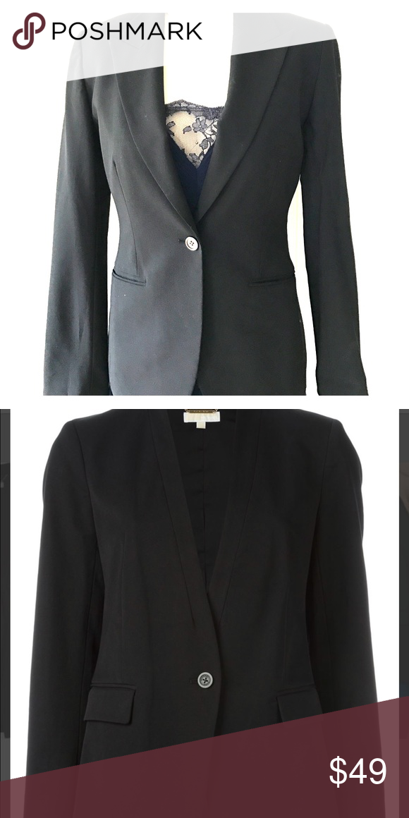 Black Micheal Kors blazer Beautifully tailored Micheal Kors blazer. Versatile jacket that can be worn with jeans and heels or dress it up with a nice pencil skirt for office wear. A must have piece in everyone's closet! Worn once and in almost perfect condition. KORS Michael Kors Jackets & Coats Blazers