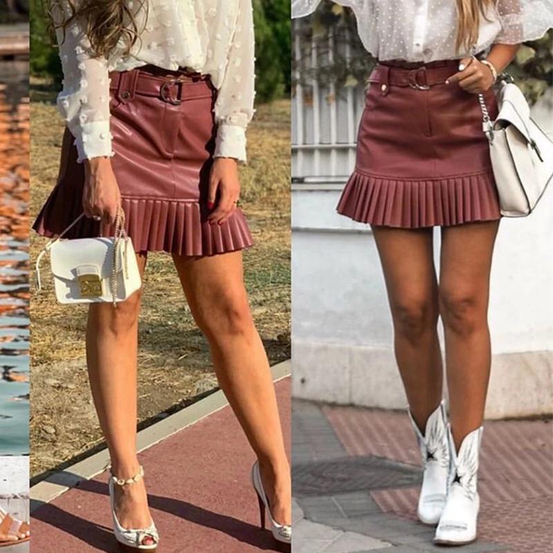 Plus Seamed PU Mini Skirt | boohoo | Mini skirts, How to