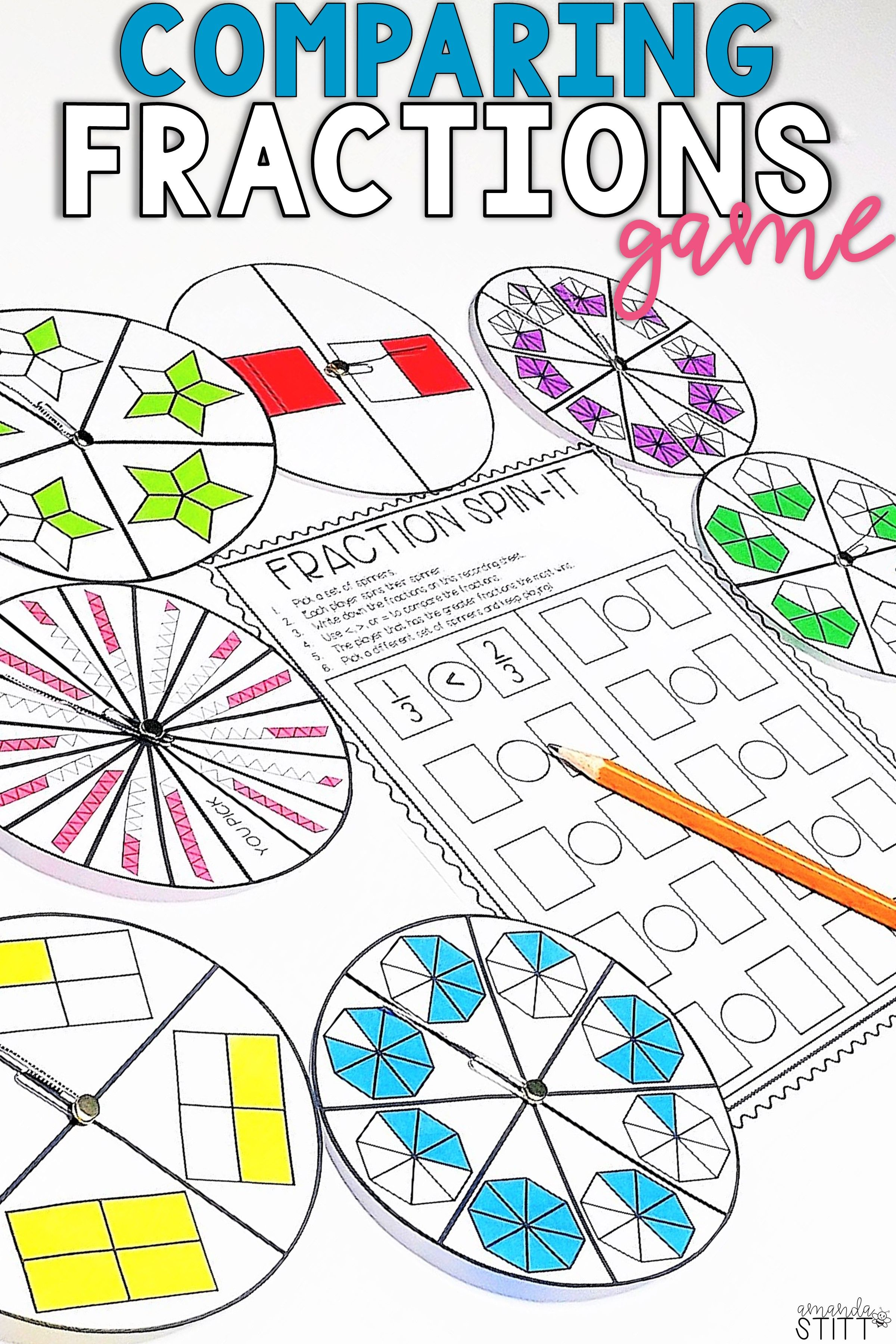Your Students Will Love To Practice Comparing Fractions