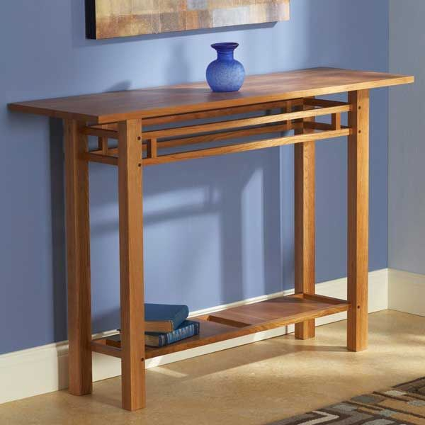 Easy And Elegant Hall Table Woodworking Plan From Wood Magazine Furniture Project Plans Furniture Projects Entry Hall Table