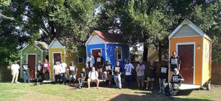Church Installs 6 Colorful Micro Homes In First Nashville Village For Homeless Tiny House Community Vardo Tiny House