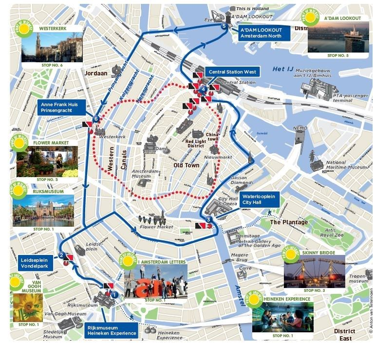 Hop On Hop Off Boat Amsterdam Sightseeing Stromma Nl Sightseeing Amsterdam Amsterdam Map