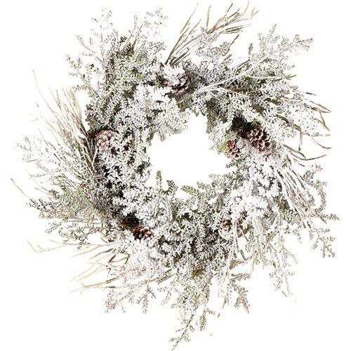Faux Snowy Pine Wreath