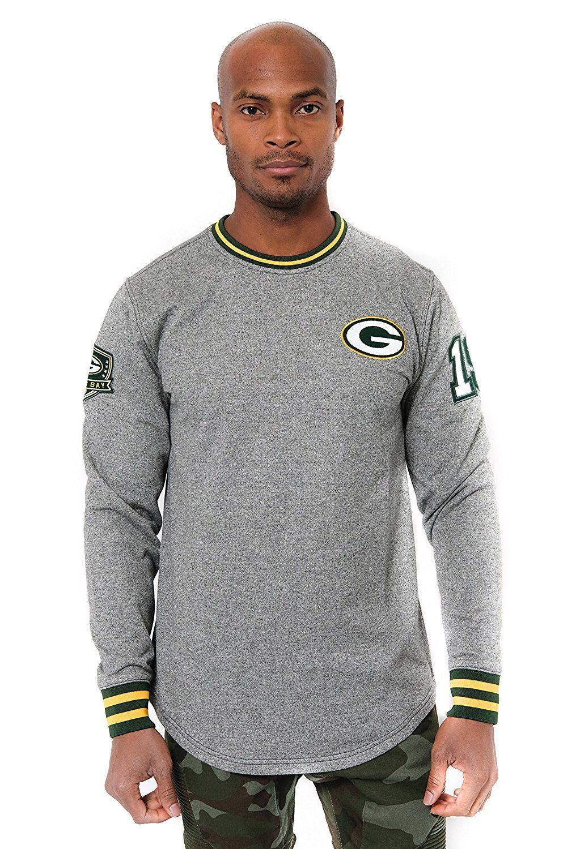 Amazon Com Nfl Men S Green Bay Packers Fleece Sweatshirt Long Sleeve Pullover Rib Stripe Small Striped Sleeve Sweatshirt Sweatshirts Long Sleeve Tshirt Men [ 1500 x 1016 Pixel ]