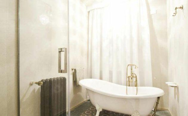 terrazzo fliesen bodenbelag badezimmer muster badewanne