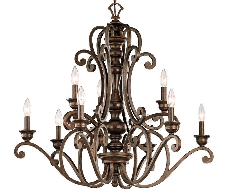 View The Kichler 43280 Mithras 2 Tier Candle Style Chandelier With 9 Lights 72 Chain Included 32 In Candle Style Chandelier Chandelier Classic Chandeliers