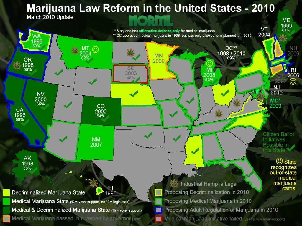 How Many States In USA Have Banned The Selling Of Synthetic - Legality of pot in the us map