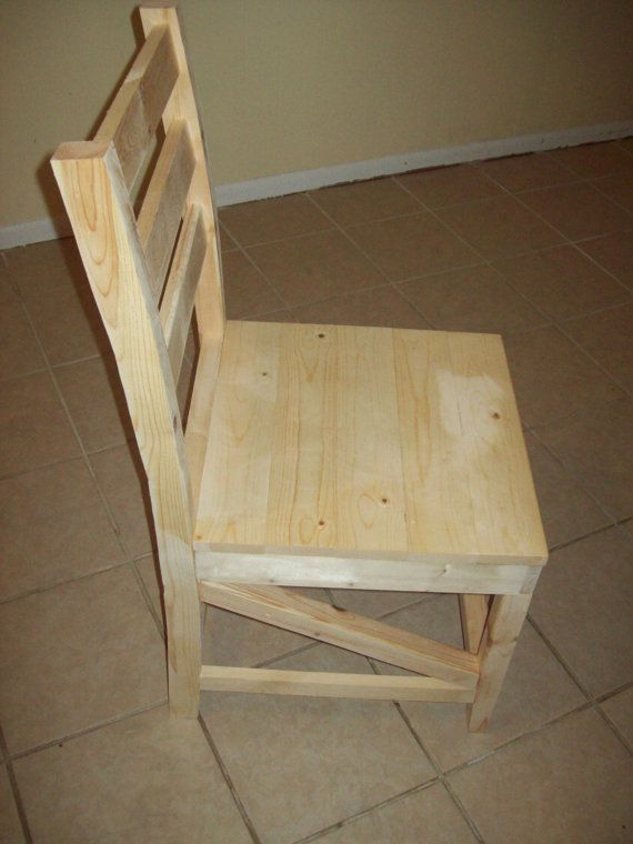 Wooden Hand Made Dining Chair Rustic Farm Style Furniture
