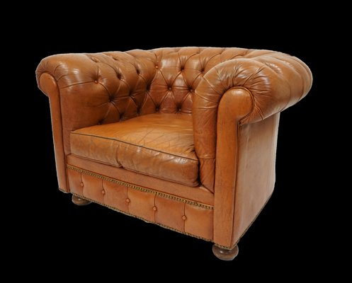 Vintage Leather Chesterfield Armchair 1940s In 2020 Leather Chesterfield Chesterfield Furniture Chesterfield Armchair