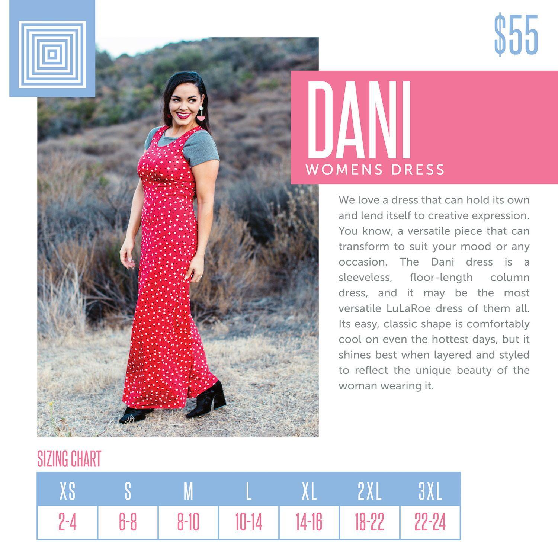6a3119036ac The LuLaRoe Dani women s dress is a sleeveless