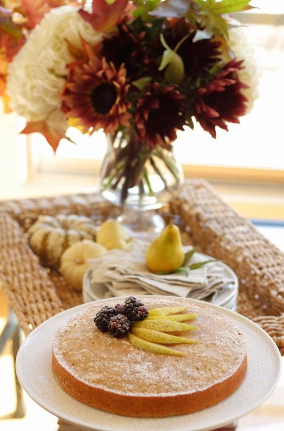 In Good Taste: Pear & Cinnamon Cake