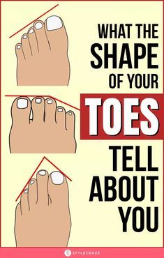 Find Out What The Shape Of Your Toes Tell About Yo