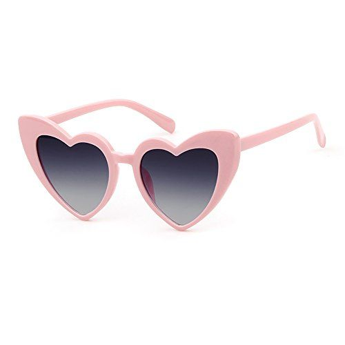 84057335b4 Love Heart Shaped Sunglasses Women Vintage Cat Eye Mod Style Retro Glasses  (pinkblack