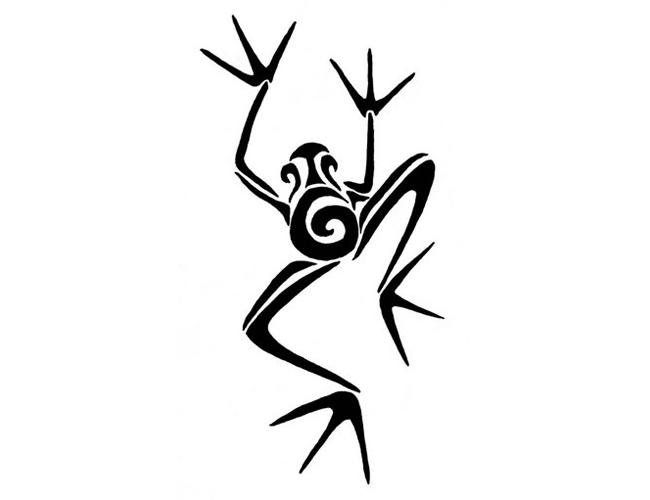Small tribal tattoos small tribal frog tattoo brush for Tribal frog tattoo