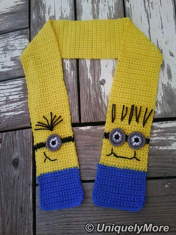 Crochet Pattern Minion Scarf CROCHET PATTERN by uniquelymore, $3.00 ...