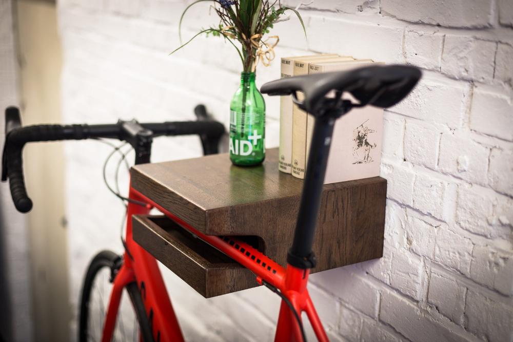 Franz Josef Sustainable Bikeshelf Wood Bike Wall Mount